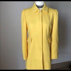 Zara Yellow Blazer/Coat Made In Spain!